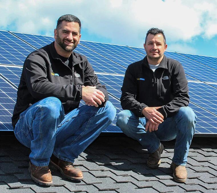 Matt Stone and Kevin Alberto owners of SolarWorx Energy