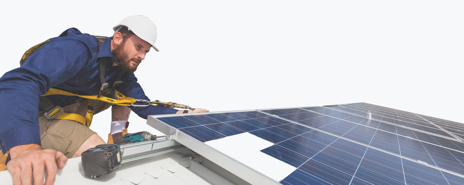 SolarWorx Energy installing solar panels on roof in Tuolumne County