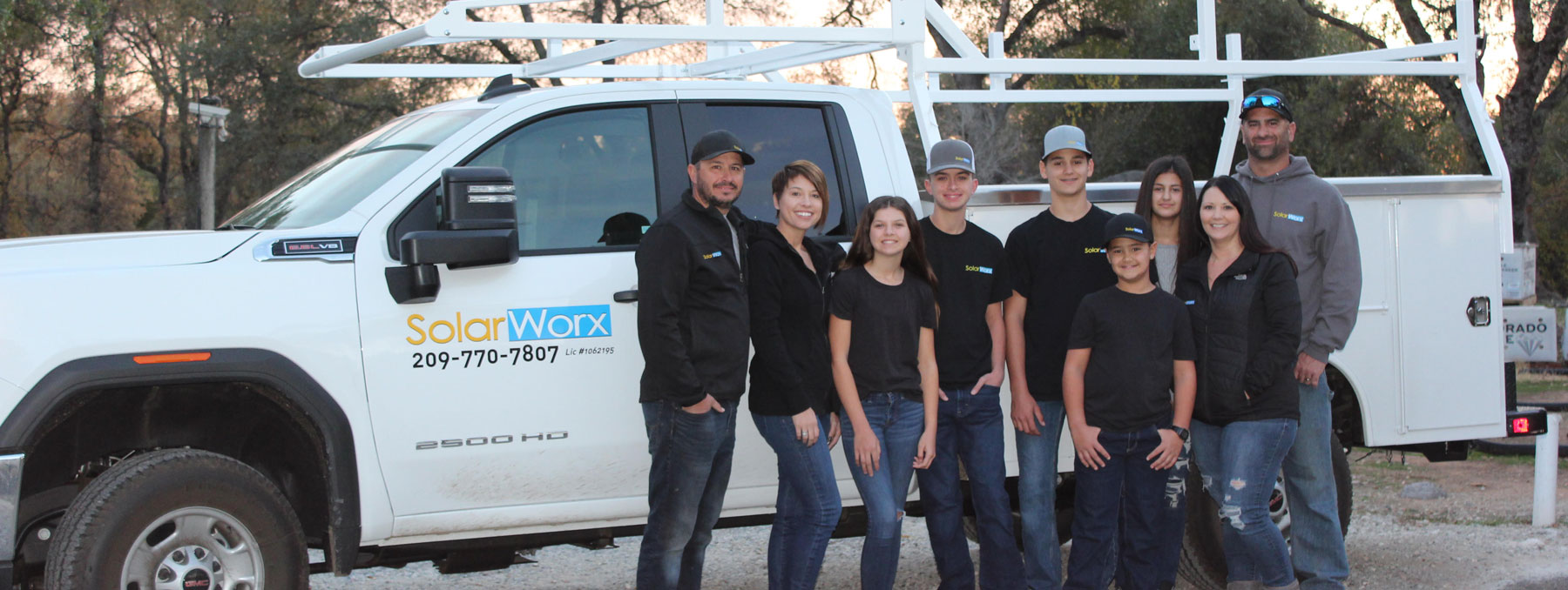 SolarWorx Energy family in Tuolumne County California. Your local solar panel installation professionals