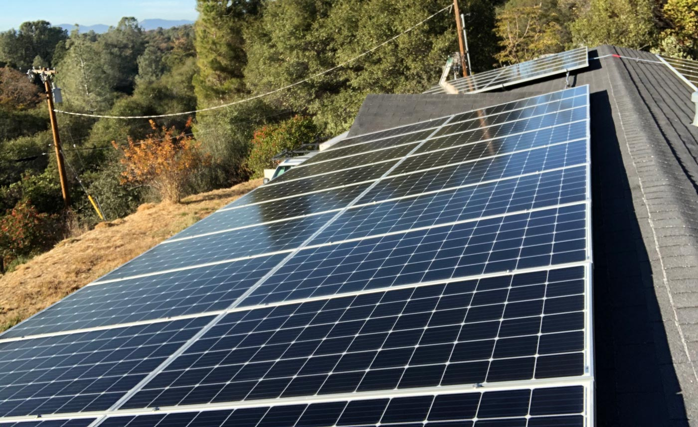 SolarWorx Energy solar panel installation on roof in Tuolumne County: Local Solar Installers
